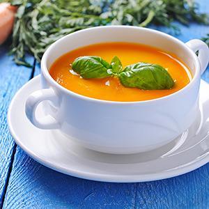 Sopa de cenoura com curry