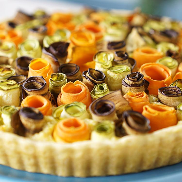 Torta de flores de legumes