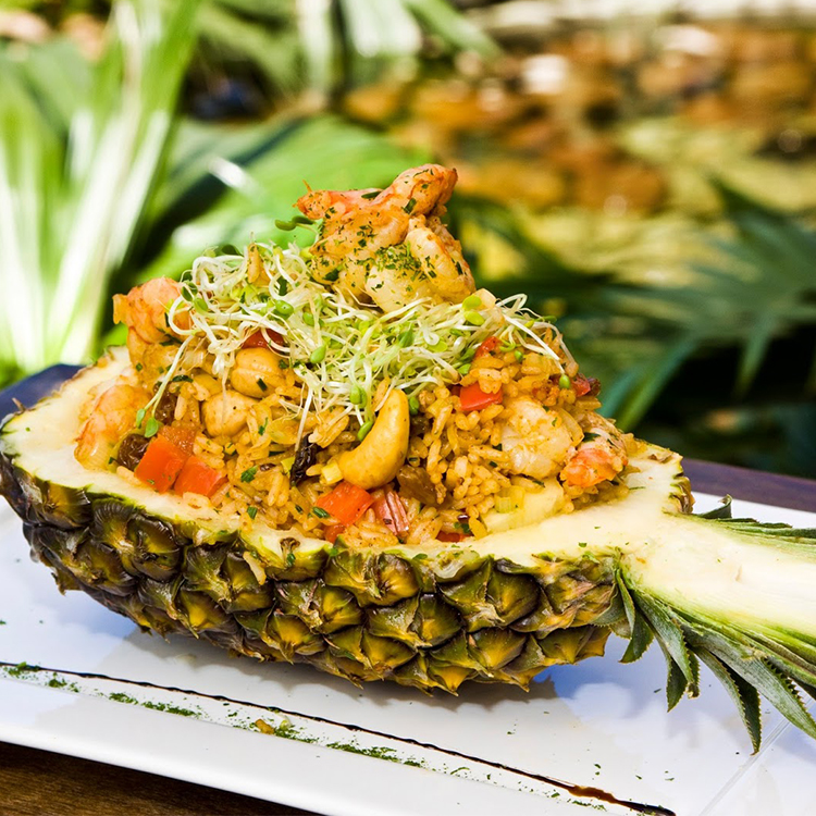 Arroz Tailandês com abacaxi
