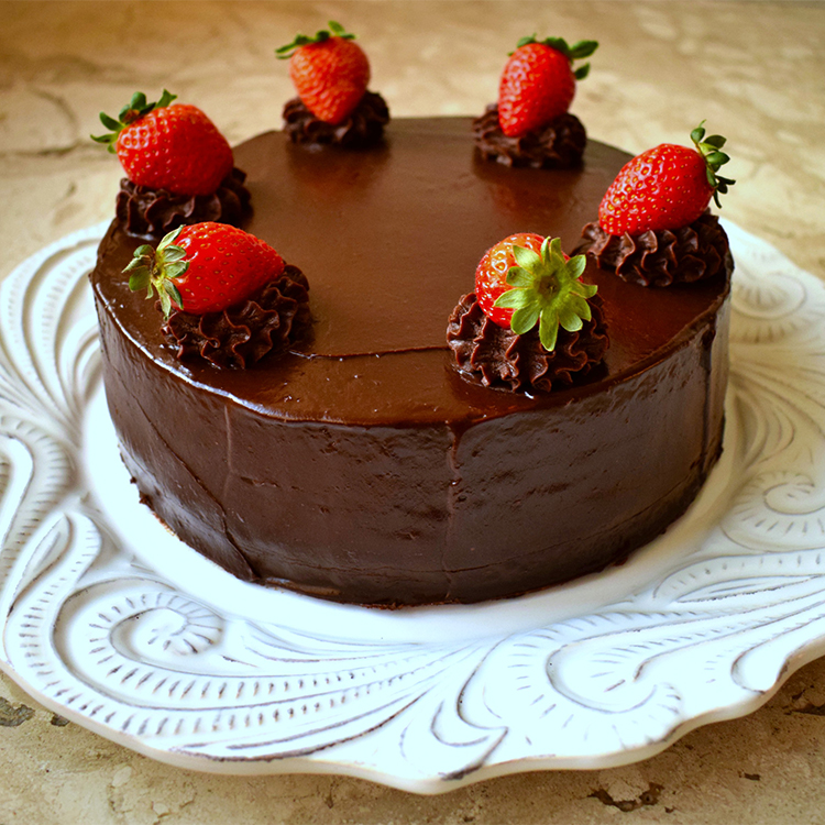 Cheesecake trufado de chocolate
