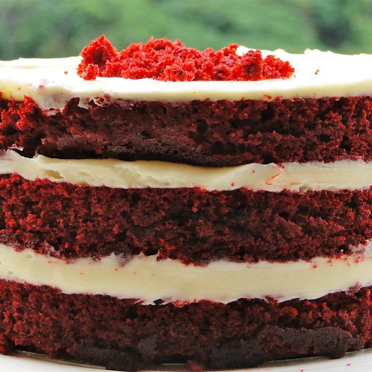 Massa para red velvet cake