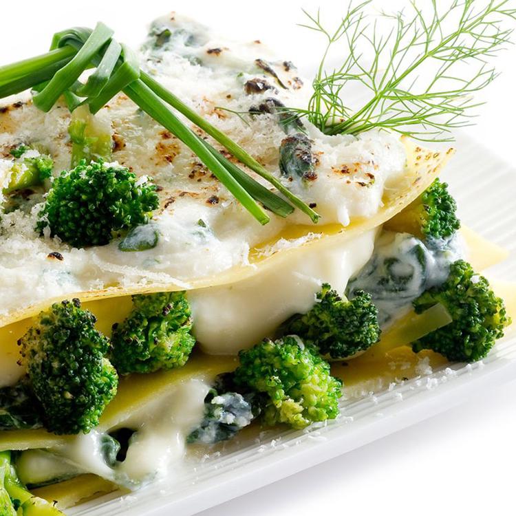 Lasanha de brócolis