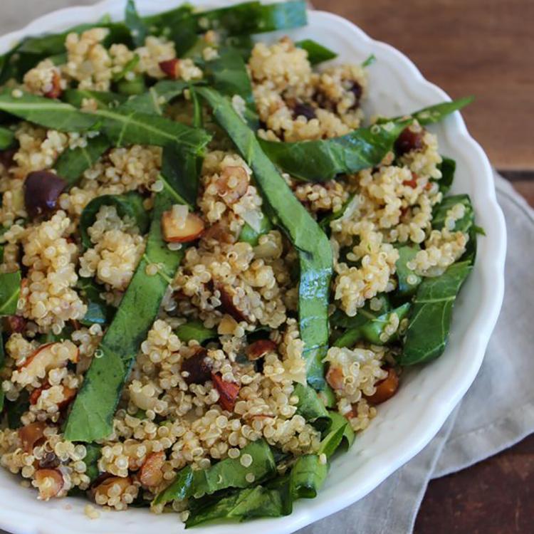 Salada de couve com quinua