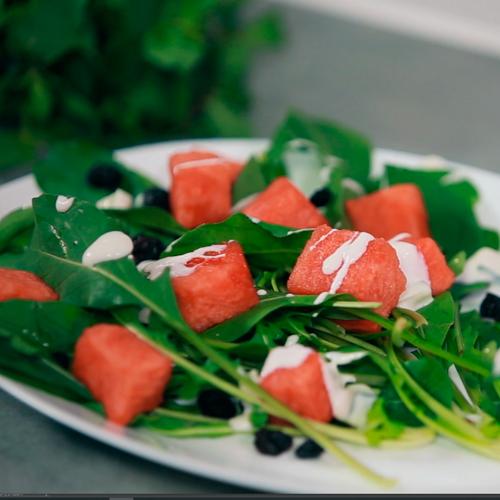 Salada de Melancia com Rabanete
