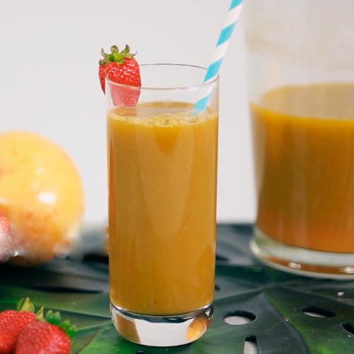 Suco Antioxidante de Maracujá, Manga e Gengibre
